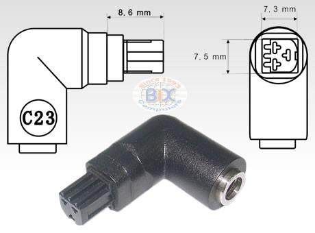 DC Power Connector Plug Tip - C23