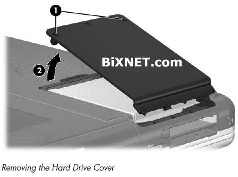 how to remove hard drive hp compaq